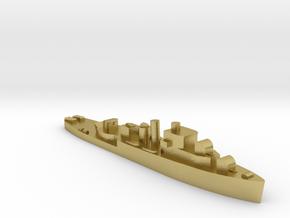 HMS Stork 1:1800 WW2 sloop in Natural Brass