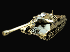 Tank - IS-3 / Object 703 - size Large in Polished Brass