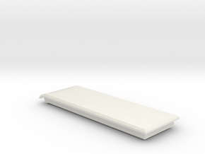 Index HMD Fan Mount (Left Cap) in White Natural Versatile Plastic