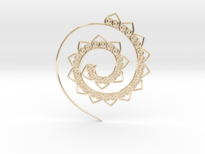 Heart Hoop Earring in 14K Yellow Gold