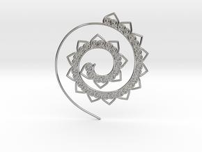Heart Hoop Earring in Polished Silver