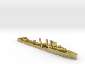 HMS Icarus destroyer 1:1800 WW2 in Natural Brass