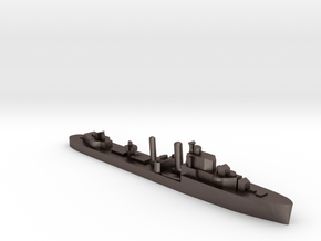 HMS Icarus destroyer 1:1200 WW2 in Polished Bronzed-Silver Steel