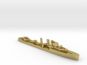 HMS Ilex destroyer 1:1800 WW2 in Natural Brass
