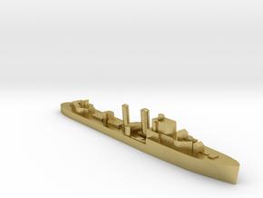 HMS Ilex destroyer 1:3000 WW2 in Natural Brass