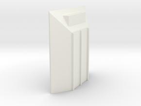 merritt front end cap  in White Natural Versatile Plastic: 1:64 - S