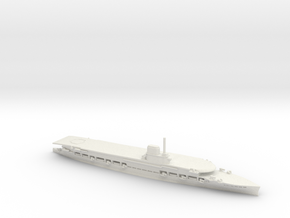 British Courageous-Class Aircraft Carrier in White Natural Versatile Plastic: 1:1800