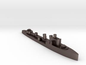 Italian Nembo destroyer WW2 1:3000 in Polished Bronzed-Silver Steel