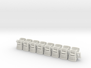 1/72 Scaledetailed chairs x16 in White Natural Versatile Plastic