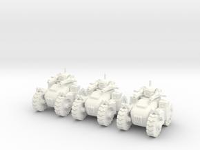 6mm - All Terrain Advanced AI Turret Tank in White Processed Versatile Plastic