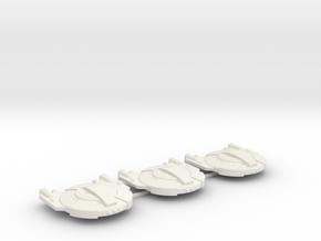 3125 Scale Andromedan Gun Sleds (3) SRZ in White Natural Versatile Plastic
