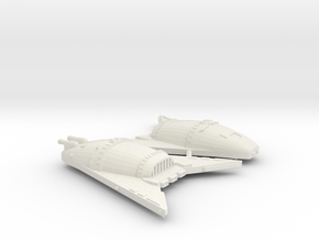 3788 Scale Hydran War Destroyers (2, Mixed) in White Natural Versatile Plastic