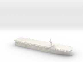 US Casablanca-class Aircraft Carrier in White Natural Versatile Plastic