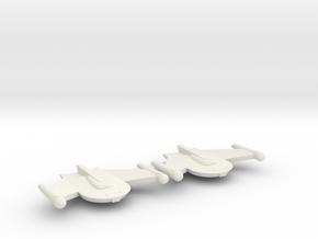 3788 Scale Romulan Snipe Frigates (2) MGL in White Natural Versatile Plastic