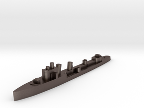 Italian Aquilone destroyer WW2 1:1800 in Polished Bronzed-Silver Steel