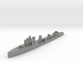 Italian Aquilone destroyer WW2 1:1800 in Gray PA12