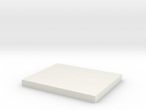 Vehicle/figure rectangular base for 15mm in White Natural Versatile Plastic