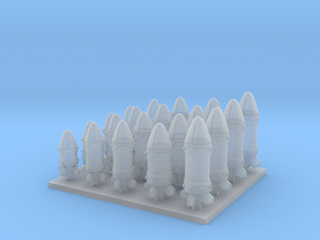 Space Orks Assorted Missles Type 01 in Smooth Fine Detail Plastic