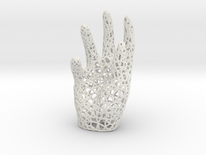 Hand_thick2mm in White Natural Versatile Plastic