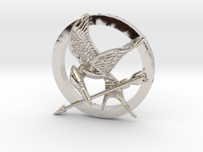 Mocking Jay Pendant in Platinum