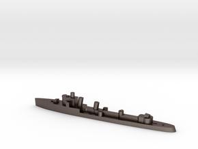 Italian Zeffiro destroyer WW2 1:3000 in Polished Bronzed-Silver Steel