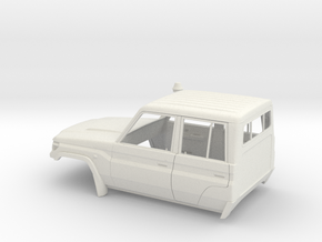 Toyota VDJ79R Double cab 1:8.4 in White Natural Versatile Plastic: 1:8