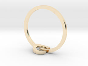 POWER ring in 14k Gold Plated Brass: 3 / 44