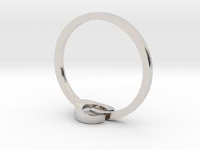 POWER ring in Rhodium Plated Brass: 3 / 44