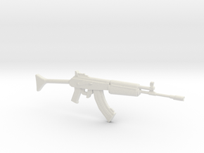 1:12 Miniature RK62 Assault Rifle in White Natural Versatile Plastic: 1:12