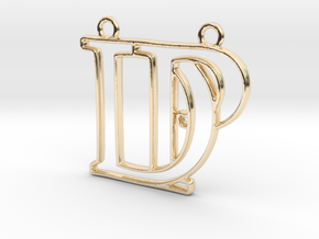D&P monogram in 14k Gold Plated Brass