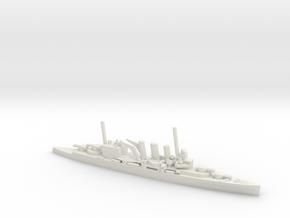 British County (Kent)-Class Cruiser in White Natural Versatile Plastic