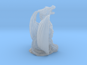 Magnificent Dragon Home Decoration RPG Miniature in Smooth Fine Detail Plastic