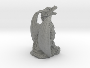 Magnificent Dragon Home Decoration RPG Miniature in Gray PA12