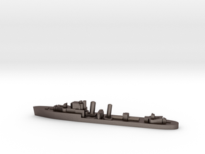 HMS Imperial destroyer 1:1800 WW2 in Polished Bronzed-Silver Steel