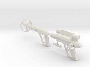 Lost in Space Mattel Roto-Jet Gun w/ Shrieker 1/6 in White Natural Versatile Plastic