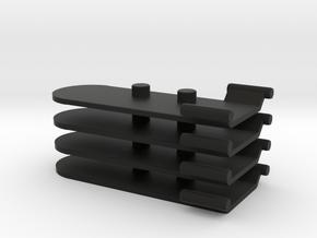 Time Traveler Trick Stands in Black Natural Versatile Plastic: Large