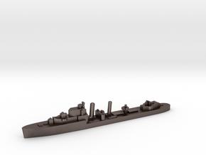 HMS Impulsive destroyer 1:1200 WW2 in Polished Bronzed-Silver Steel