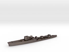 Italian Uragano torpedo boat 1:3000 WW2 in Polished Bronzed-Silver Steel