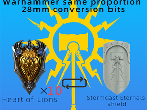 Heart of Lions shield in Smooth Fine Detail Plastic