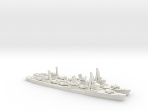 Japanese Akatsuki-Class Destroyer (x2) in White Natural Versatile Plastic