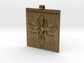 Etruscan Bee Goddess Pendant in Natural Bronze