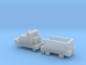 00 Scale Derwent Tenders (fine-scale planking) in Smooth Fine Detail Plastic