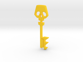 Borderlands Cosplay Golden Key in Yellow Processed Versatile Plastic: Extra Small
