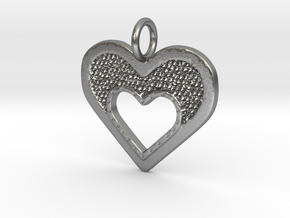 Heart of Hearts in Natural Silver