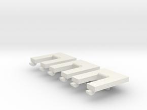 Skystriker Landing Gear Retention Clips (x3) in White Natural Versatile Plastic