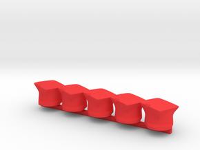 5 x Polish Ulan  in Red Processed Versatile Plastic