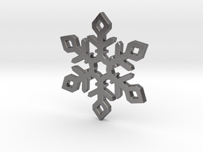 Snow Flake in Polished Nickel Steel