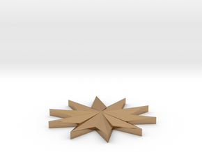 Coin_Star_Seperate in Polished Brass