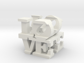love/life - extralarge (25cm) in White Natural Versatile Plastic