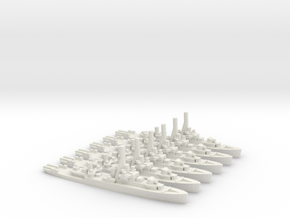 Canadian River-Class Frigate (x6) in White Natural Versatile Plastic